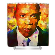 Colorful Jay Z Palette Knife Shower Curtain