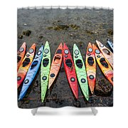 Colorful Kayaks  Shower Curtain