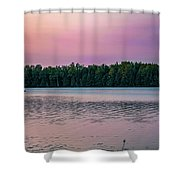 Colorful Lake-side Sunset Shower Curtain