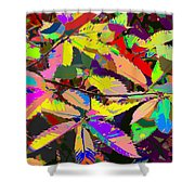 Colorful Leaves Shower Curtain