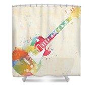 Colorful Les Paul Shower Curtain