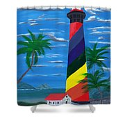 Colorful Lighthouse Shower Curtain
