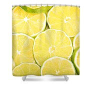 Colorful Limes Shower Curtain