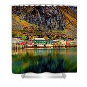 Colorful Lofoten, Norway Shower Curtain