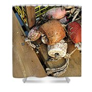 Colorful Marker Buoys Shower Curtain