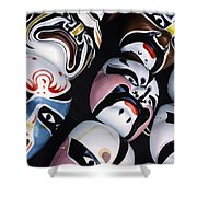 Colorful Masks Shower Curtain