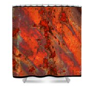 Colorful Metal Abstract With Border Shower Curtain