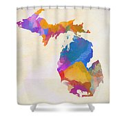 Colorful Michigan Shower Curtain