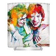 Colorful Mick And Keith Shower Curtain