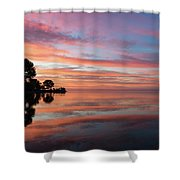 Colorful Morning Mirror - Spectacular Sky Reflections At Dawn Shower Curtain