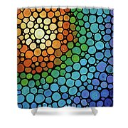 Colorful Mosaic Art - Blissful Shower Curtain