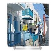 Colorful Mykonos Shower Curtain