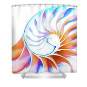 Colorful Nautilus Shower Curtain