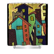 Colorful Neighborhood Shower Curtain