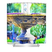 Colorful New Orleans Fountain Shower Curtain