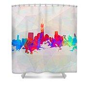 Colorful New York Skyline Shower Curtain