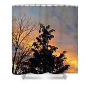 Colorful Nightfall Shower Curtain