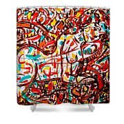 Colorful Nude 1 Shower Curtain
