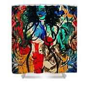 Colorful Nude Shower Curtain