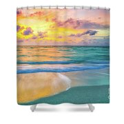 Colorful Ocean Sky Shower Curtain