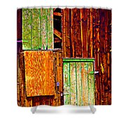 Colorful Old Barn Wood Shower Curtain