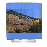Colorful Orient Canyon - Rio Grande National Forest Shower Curtain