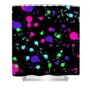 Colorful Paint Splatters Shower Curtain