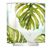 Colorful Palm Shower Curtain