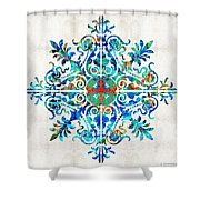 Colorful Pattern Art - Color Fusion Design 5 By Sharon Cummings Shower Curtain