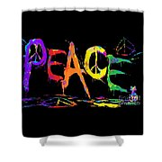 Colorful Peace Cat Shower Curtain