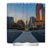 Colorful Philadelphia Morning Shower Curtain