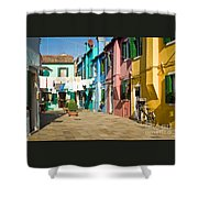 Colorful Piazza Shower Curtain