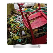 Colorful Pile 1 Shower Curtain
