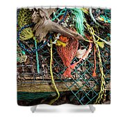 Colorful Pile 3 Shower Curtain