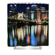 Colorful Pittsburgh Lights Shower Curtain