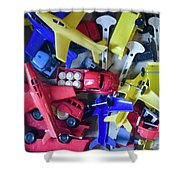 Colorful Plastic Toys #1 Shower Curtain