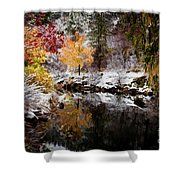 Colorful Pond Shower Curtain