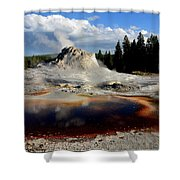 Colorful Pool Shower Curtain