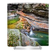 Colorful Pool In The Gorge Of Watkins Glen Shower Curtain