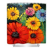 Colorful Poppy Warm No.1 Shower Curtain