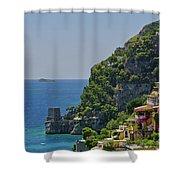 Colorful Positano Shower Curtain