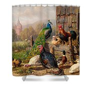 Colorful Poultry Shower Curtain
