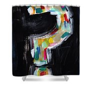 Colorful Questions- Abstract Painting Shower Curtain