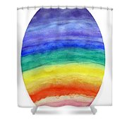 Colorful Rainbow Colored Egg Shower Curtain