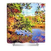Colorful Reflections Shower Curtain by Kristin Elmquist