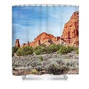 Colorful Rock Formations In Kodachrome Basin State Park, Utah Shower Curtain