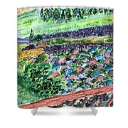 Colorful Rock Garden Shower Curtain