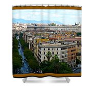 Colorful Rome Cityscape Shower Curtain