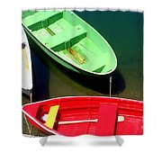 Colorful Row Boats Shower Curtain