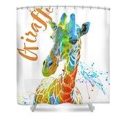 Colorful Safari Animals D Shower Curtain